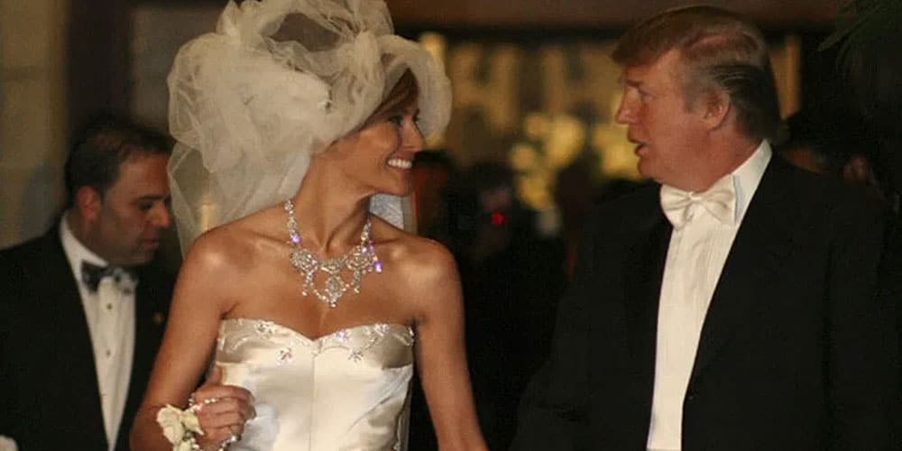 Melania and Donald Trump wedding picture