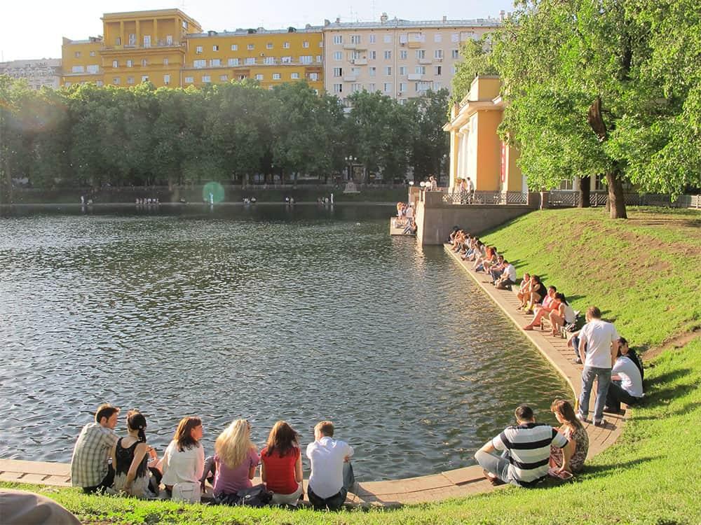 people around Patriarch's Ponds