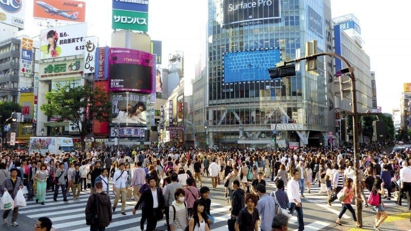 the busy streets of Tokyo, Japan
