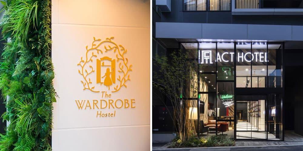 the wardrobe hostel and act hotel