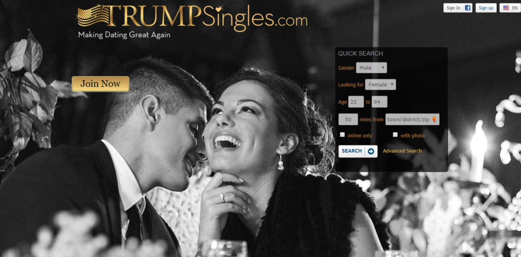 trump singles dating site