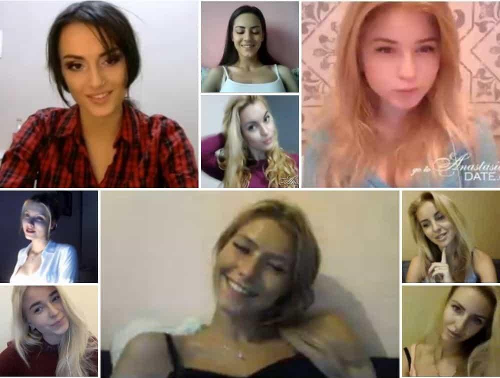 Screenshots of AnastasiaDate girls chatting