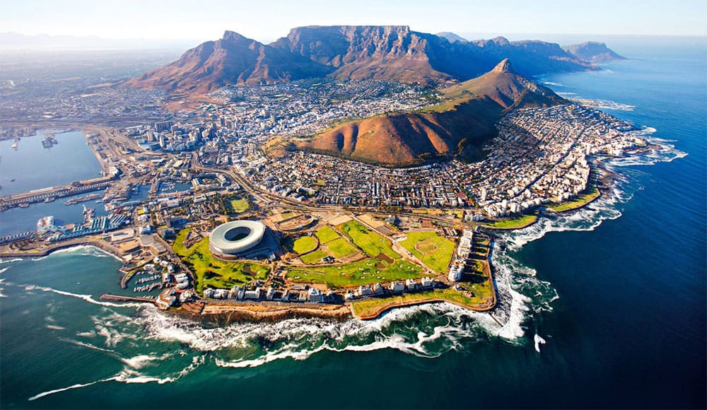 Cape Town surrounded with water